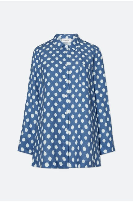 Photo of Ikat Spot Linen Shirt
