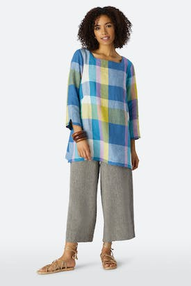 Photo of Madras Check Square Neck Tunic