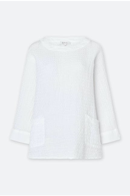 Photo of Waffle Linen Relaxed Top