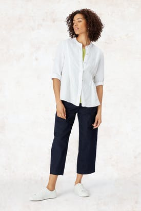 Photo of Linen Pleat Detail Shirt
