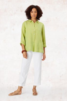 Photo of Cross Dye Linen Shirt