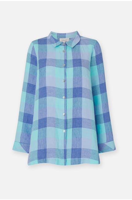 Marine Check Linen Shirt