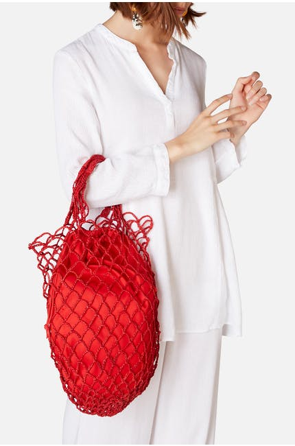 L'Atelier Du Crochet Woven String Shopper Bag
