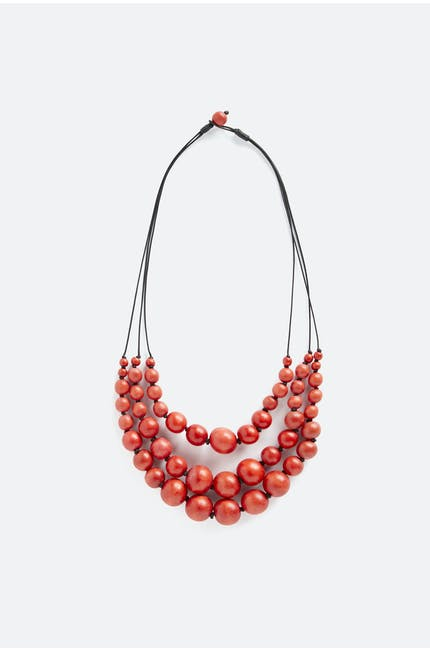 Triple Strand Sphere Necklace