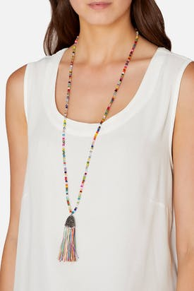 Photo of Crystal Tassel Necklace