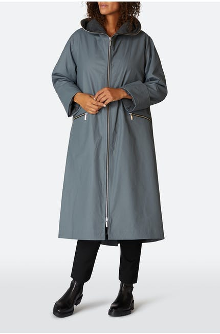 Long Zip Raincoat