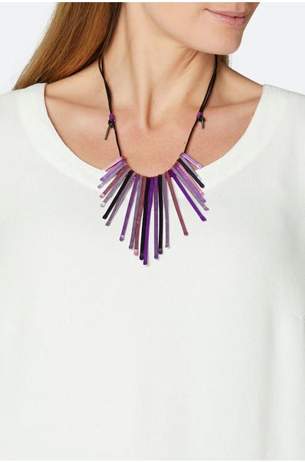 Multi Matchstick Necklace