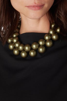 Photo of Metallic  Spheres Necklace