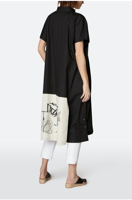 Moyuru Panel Back Shirt Dress
