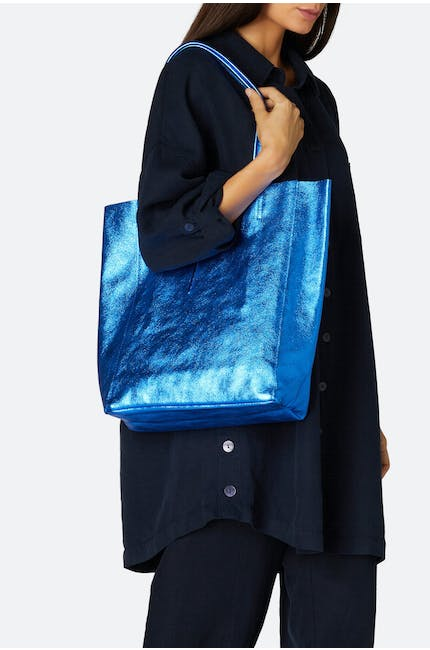 Photo of Metallic Leather Tote Bag