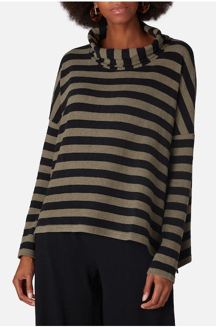 Photo of Stripe Cowl Neck Top