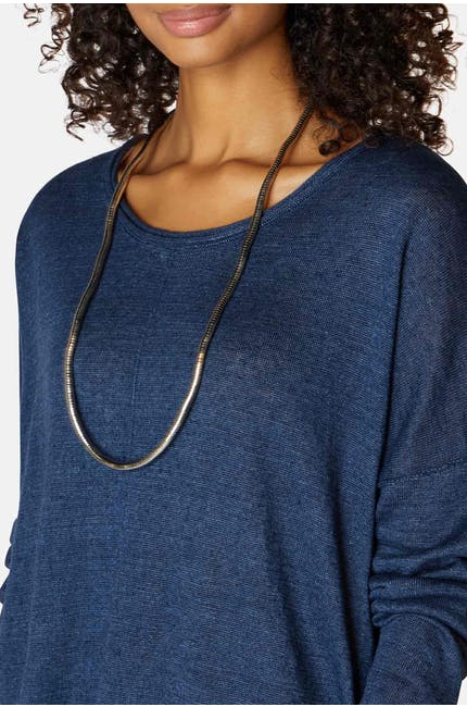 Photo of Slim Metallic Twist Necklace