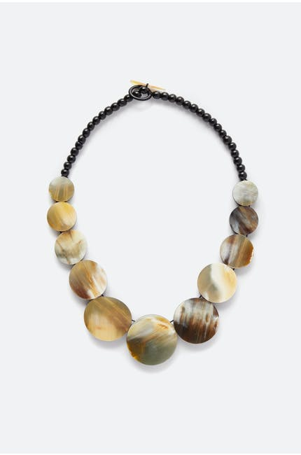 Horn Sphere Necklace