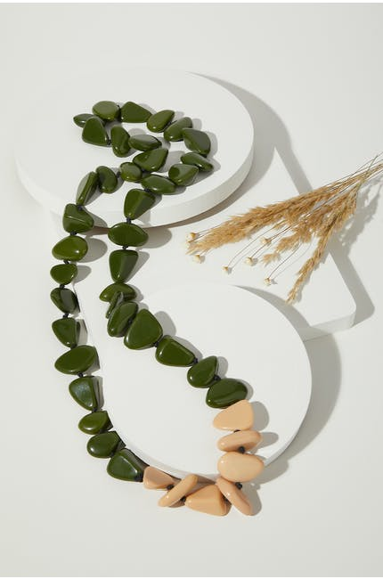 Photo of Olive Pebble Necklace