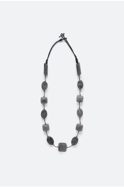 Graphite Block Necklace