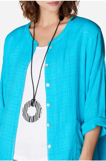 Monochrome Disc Necklace