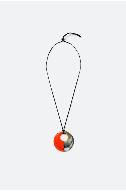 Duo Horn Pendant Necklace