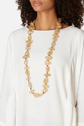 Photo of Gold Leaf Pebble Necklace
