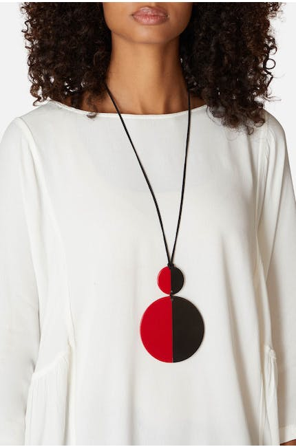 Duo Sphere Pendant Necklace