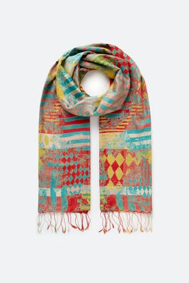 Photo of Abstract Stripe Silk Scarf
