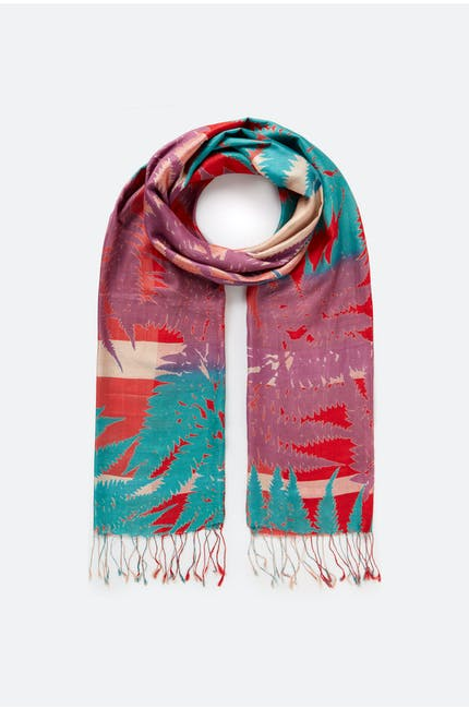 Photo of Fern Print Silk Scarf
