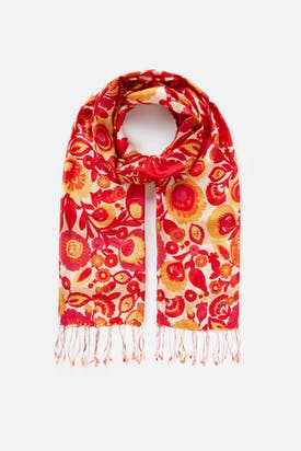 Photo of 60s Floral Silk Scarf