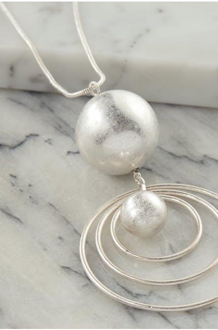 Hoop And Sphere Necklace