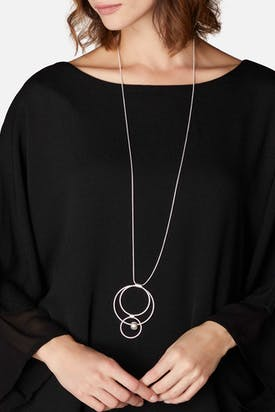 Photo of Triple Hoop & Sphere Necklace