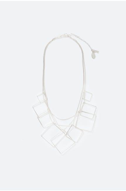 Suspended Squares Necklace