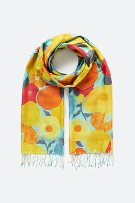 Photo of Deco Floral Silk Scarf