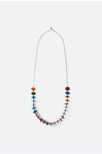 Oana Millet Spinning Disc Necklace