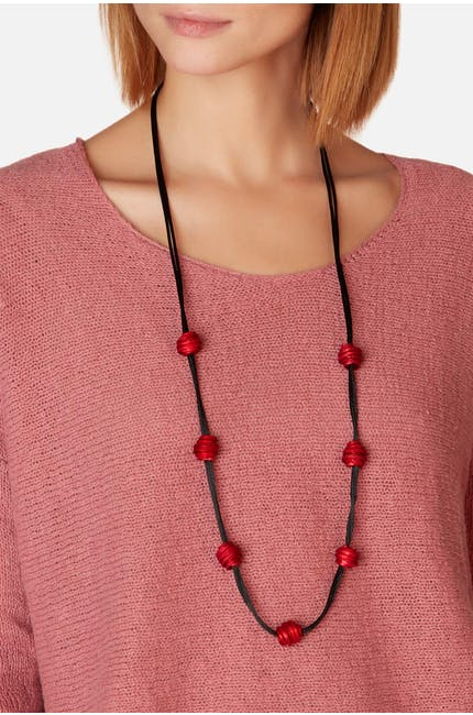 Oana Millet Twisted Aluminium Necklace