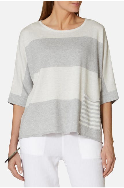 Photo of Soft Cotton Stripe Sweater