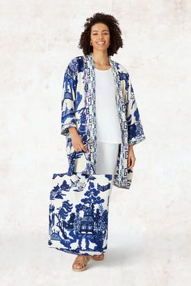 Photo of Long Willow Print Kimono