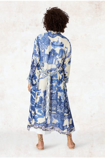 Willow Print Gown