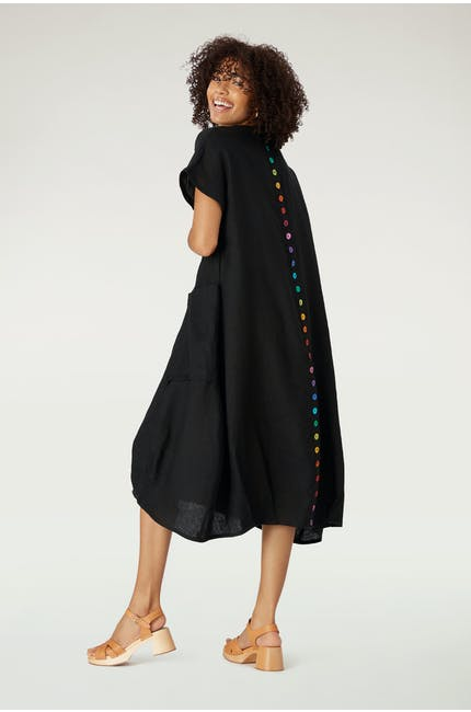 Iris Button Back Dress