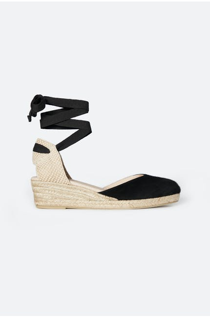 Low Wedge Suede Espadrille