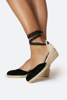 Photo of Low Wedge Suede Espadrille