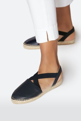 Photo of Cross Strap Leather Espadrille