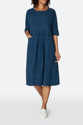 Photo of Denim Textured Stripe Dress