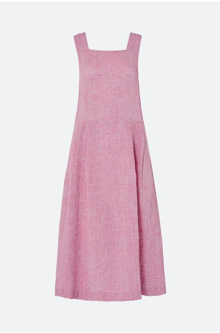 Crinkle Linen Sleeveless Dress