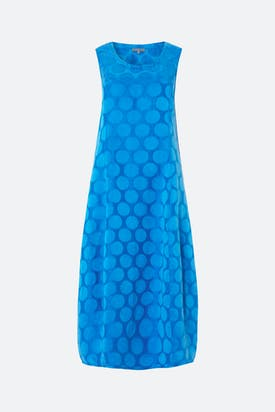 Photo of Silk Spot Jacquard Dress