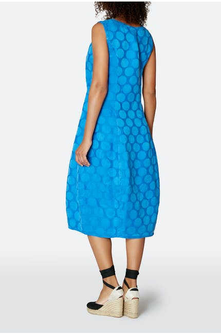 Silk Spot Jacquard Dress