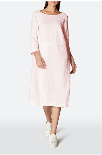 Chalk Linen Bubble Dress