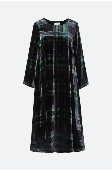 Tartan Velvet Dress
