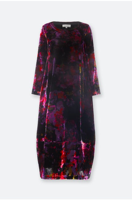 Photo of Bohemian Floral Velvet Dress