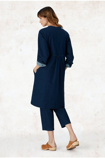 Stretch Denim Shirt Dress