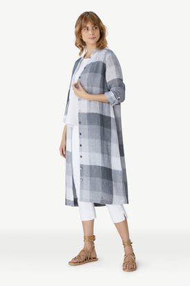 Photo of Fine Linen Check Shirt Dress