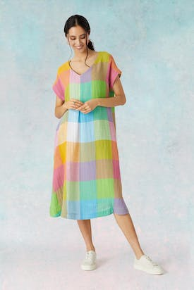 Photo of Artist Palette Linen Dress