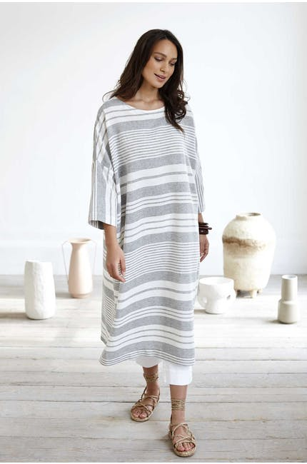 Photo of Mix Stripe Linen Kaftan